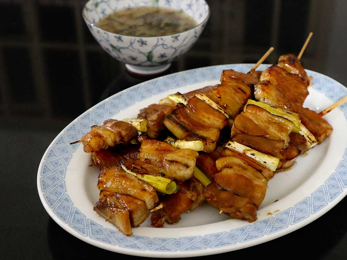 Yakiton (Japanese grilled skewered pork)