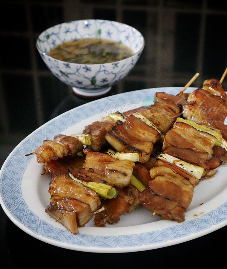 Easy Recipe for Yakiton: Japanese Grilled Skewered Pork