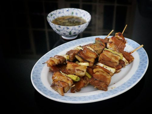 Yakiton: Japanese Grilled Skewered Pork Recipe