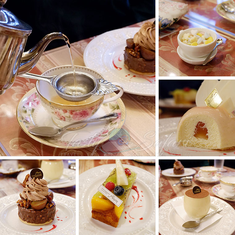Tea and cakes | Patisserie Alcyon | Osaka, Japan