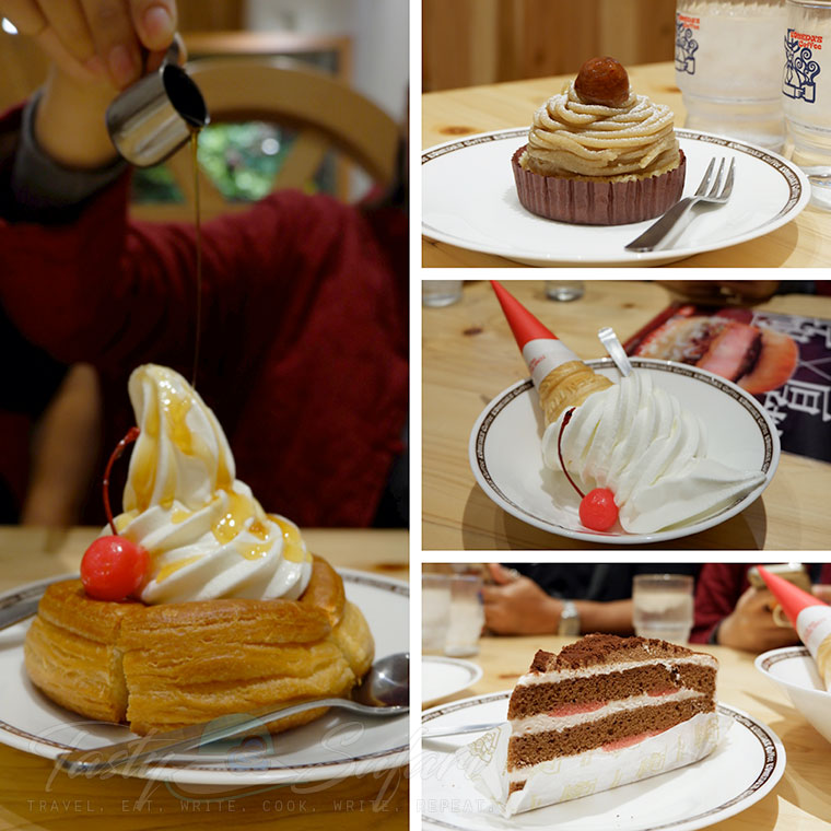 Cakes and ice cream at Komeda's Coffee, Kyoto