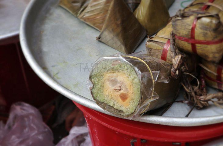 Banh Tet at the Cu Chi market