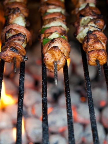Kebobs on the grill