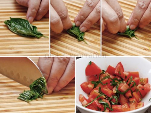 How to Chiffonade Fresh Basil: An Picture Guide