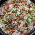 Biryani cooked with basmati rice