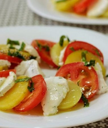 Caprese-style Salad With Goat Cheese, a Lacto-vegetarian Dish