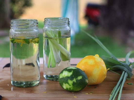 How to make Lemongrass and citrus zest infused simple syrup