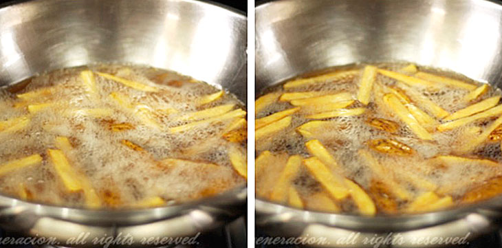 How to cook Frnech fries, step 3: Wait for potatoes to brown