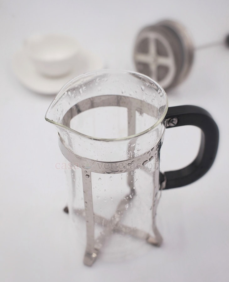 The beaker of a French press