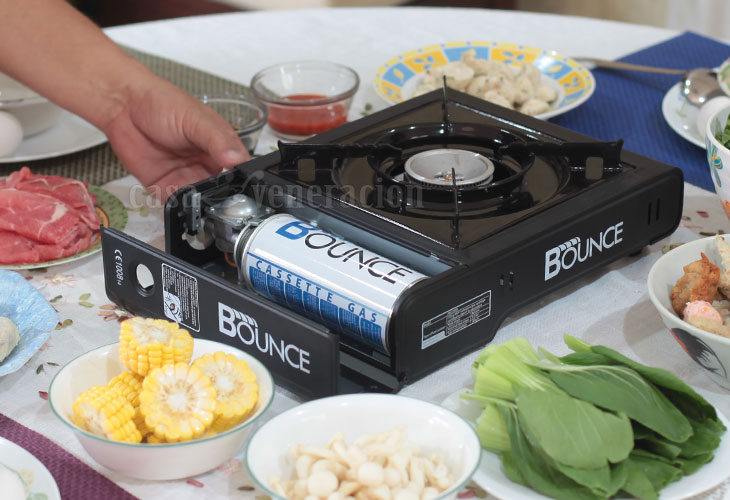Single burner tabletop gas stove for hotpot meal at home