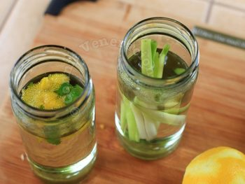 Homemade Lemongrass and citrus zest infused simple syrup