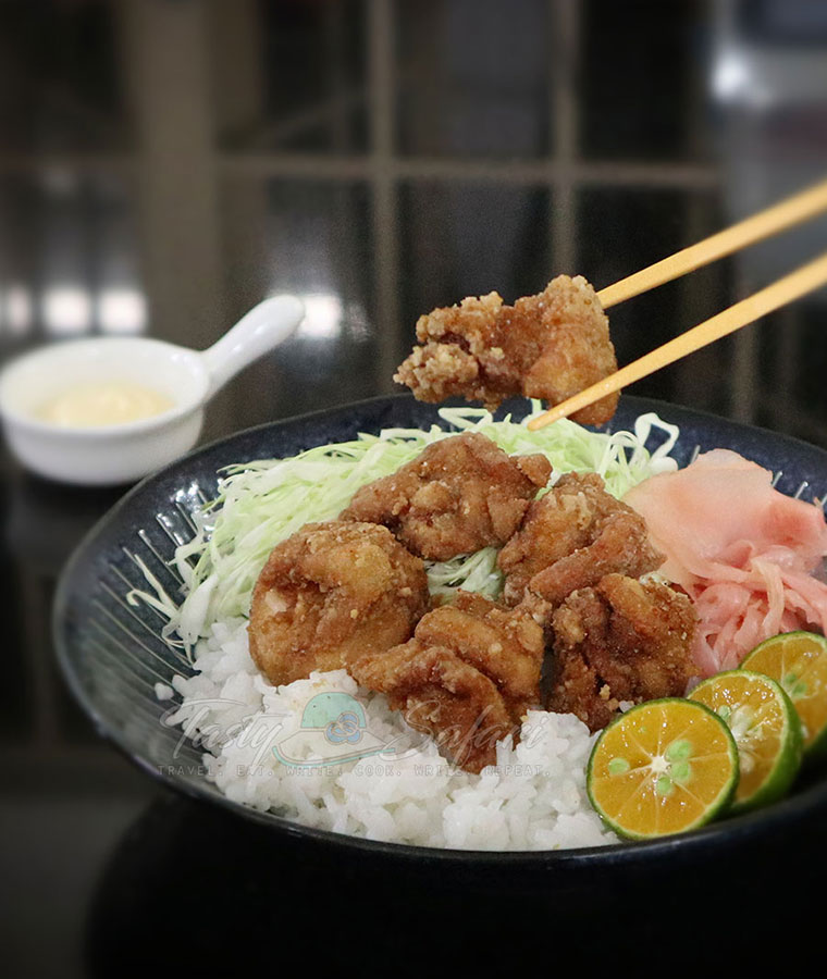 How to cook Chicken karaage rice bowl