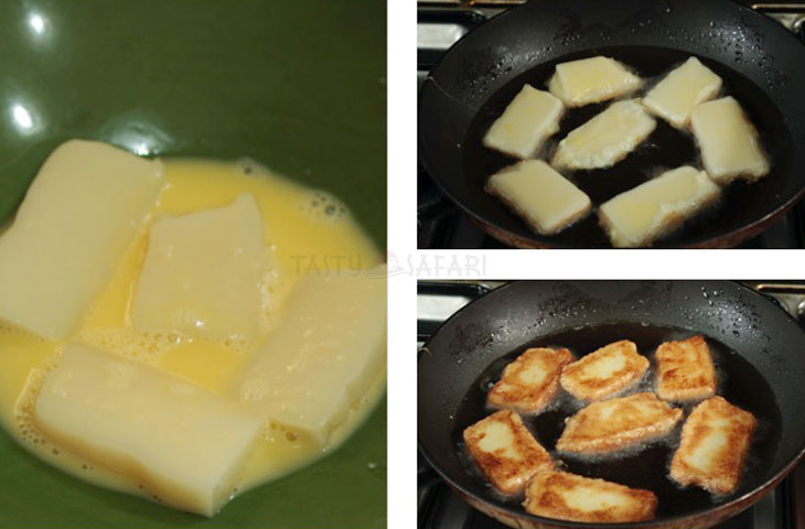 Hiow to Fry Nian Gao (Tikoy), Chinese New Year Sweet Sticky Rice Cake