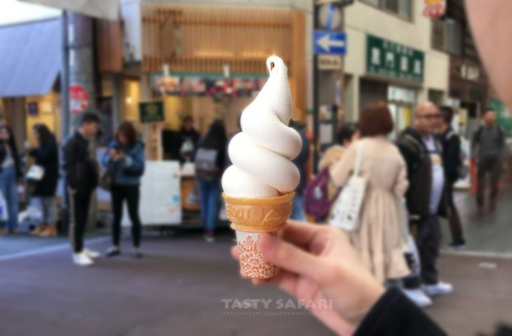 Award-winning soft ice cream at Kuromon Market