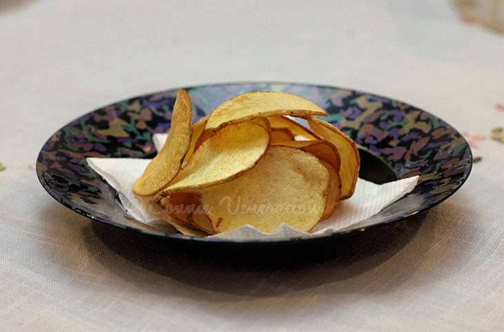 Home cut potato chips