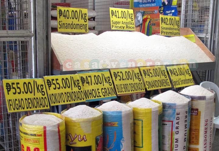 Varieties of rice in the market