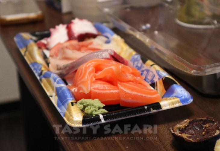Assorted sashimi from Kuromon Market