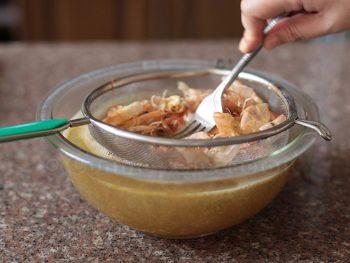 How to make shrimp / prawn broth