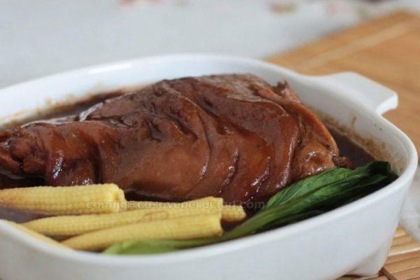 Chinese braised pork hock