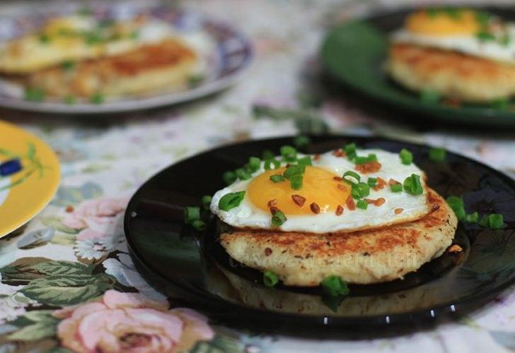 Tinapa (smoked fish) and mashed potato cakes