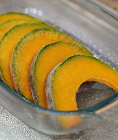 Slices of kalabasa (squash)
