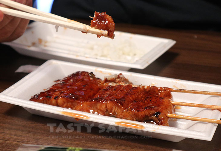 Grilled unagi from Kuromon Market