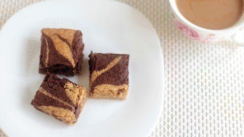 Butterscotch fudge brownie combo