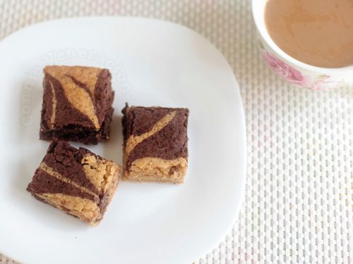 Butterscotch fudge brownie combo