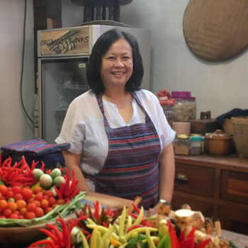 Connie Veneracion at a cooking class in Chiang Mai