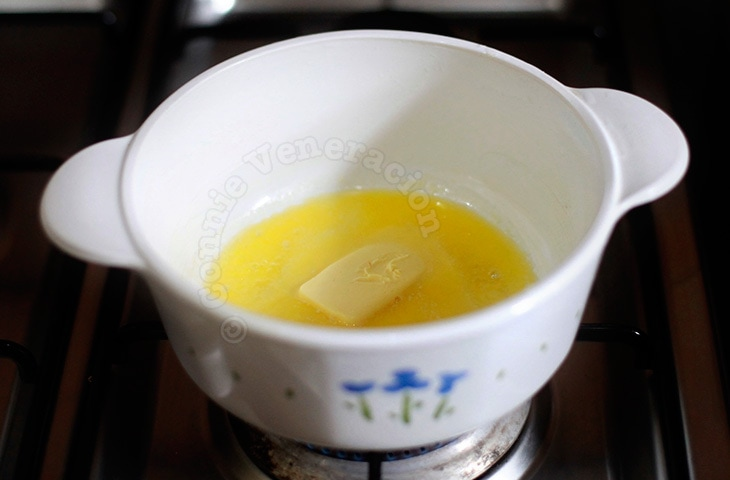 Melting butter to make a roux