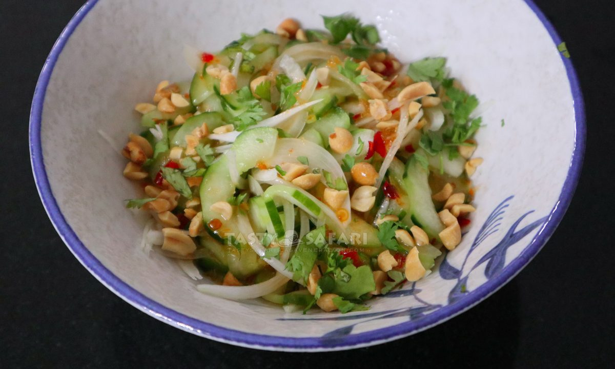 Thai Cucumber Salad with Sweet Sour Chili Dressing Recipe