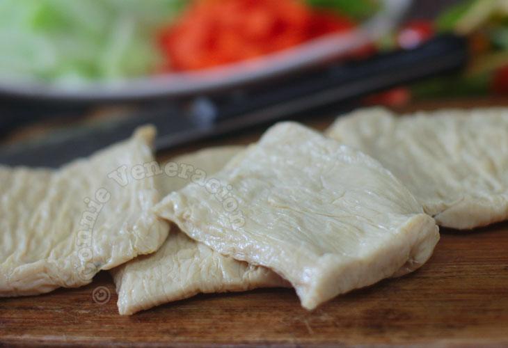 Fresh tofu skin