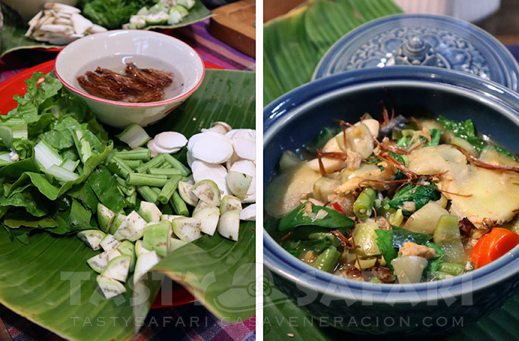 A fish and vegetable soup similar to tom yum