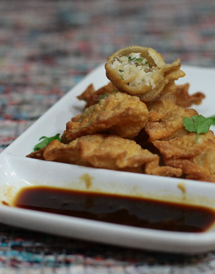 Fried dumplings with beef tripe filling