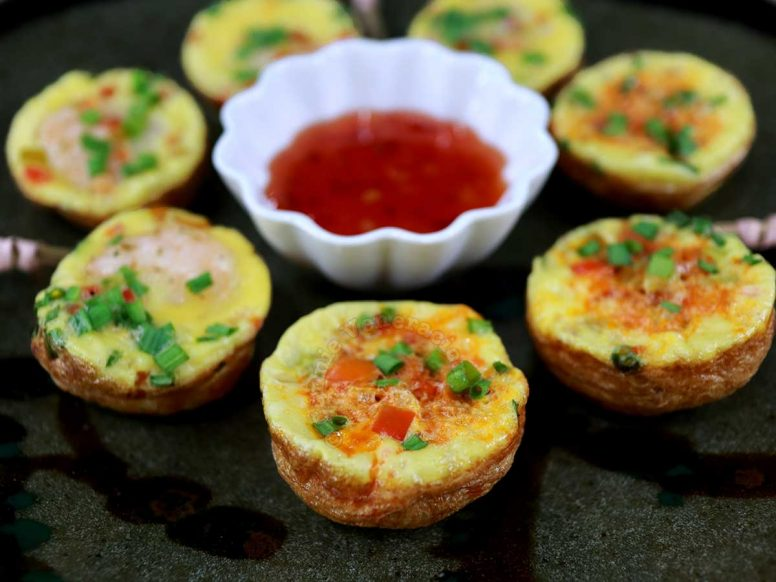 Chiang Mai Street Food-style Mini Omelettes