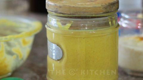 Homemade yellow mustard sauce