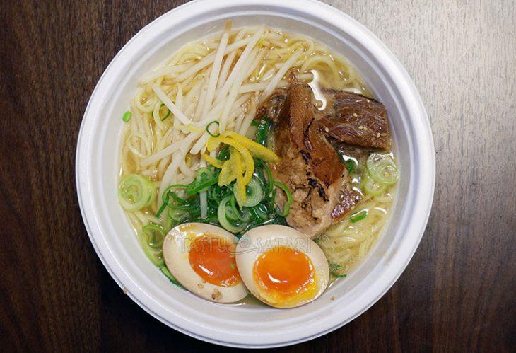 Shio ramen with egg halves