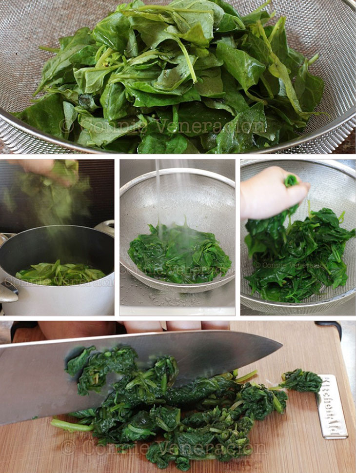 How to squeeze esxess water from spinach: step-by-step guide