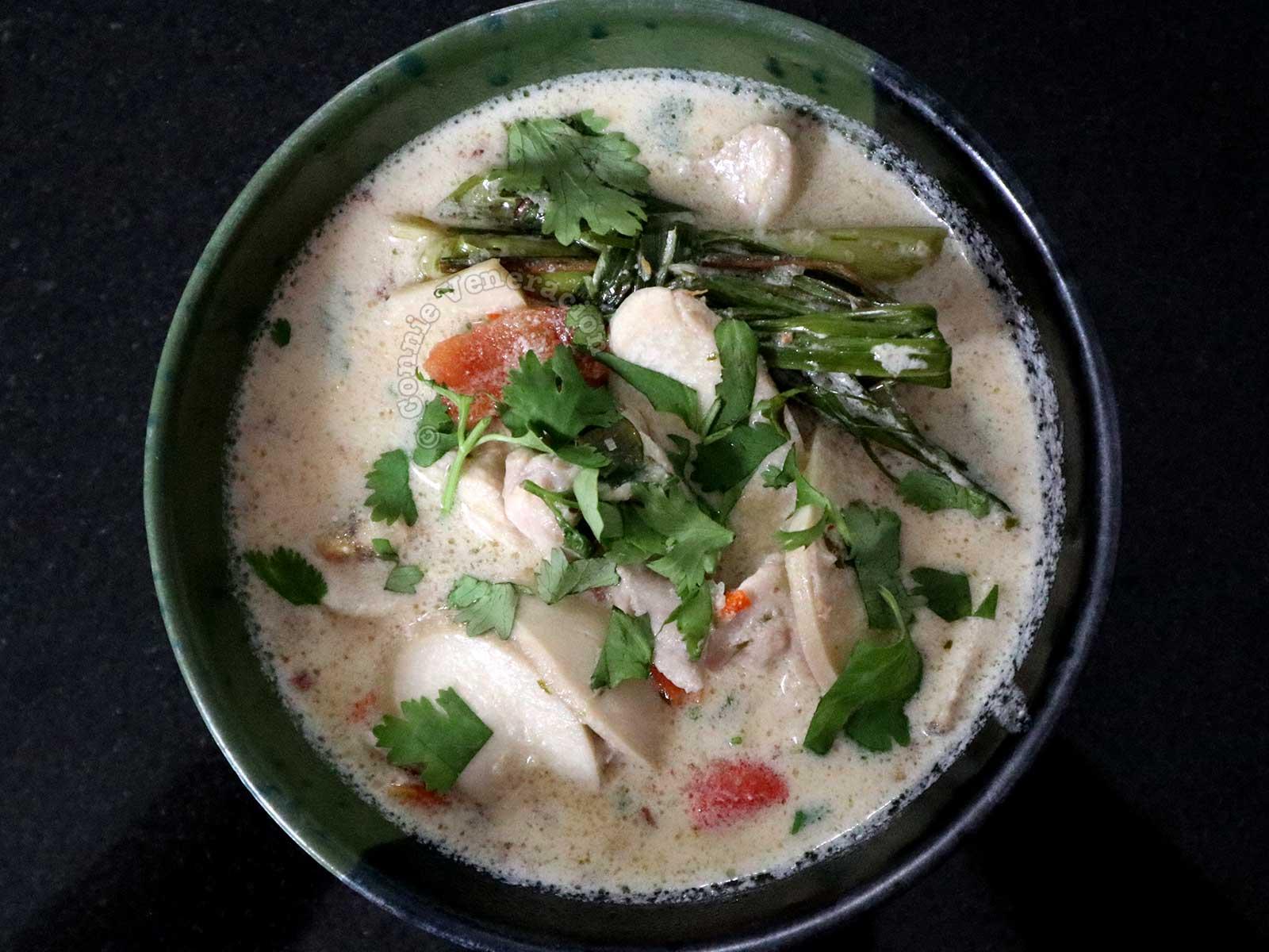 A serving of tom kha gai