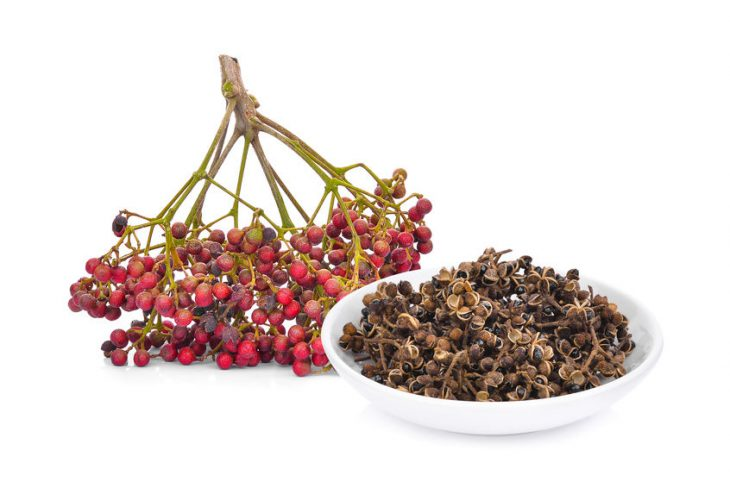 fresh and dried Sichuan pepper (zanthozylum limonella alston)