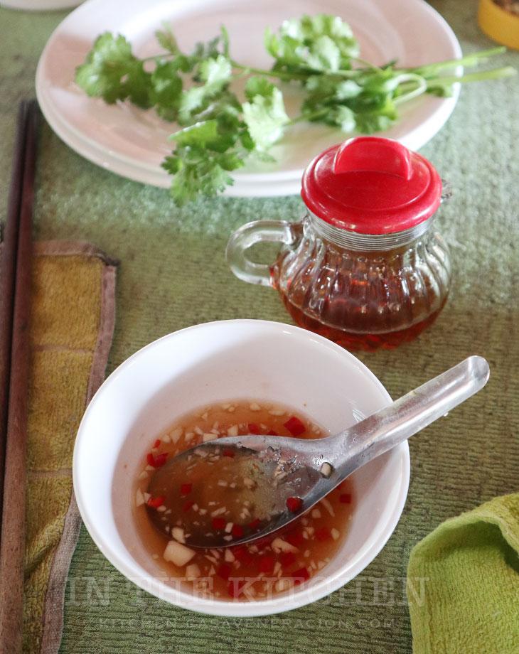Vietnamese fish sauce and mixed fish sauce