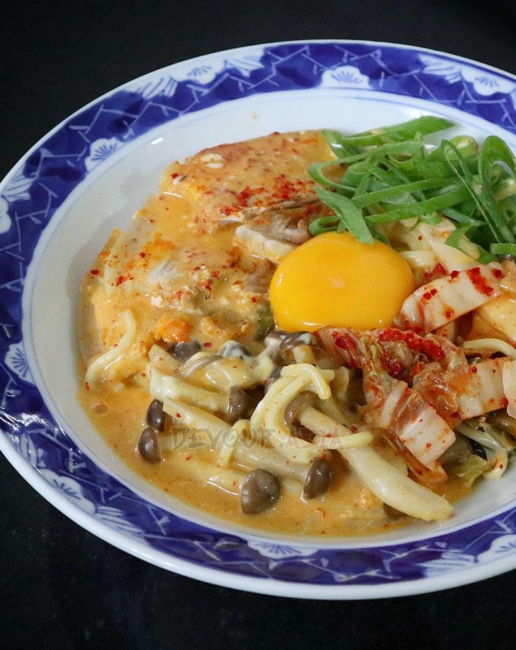 Cheese and Kimchi Ramen