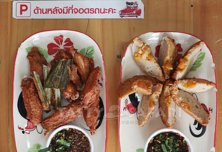 Chiang Mai fried chicken wings and dragon eggs