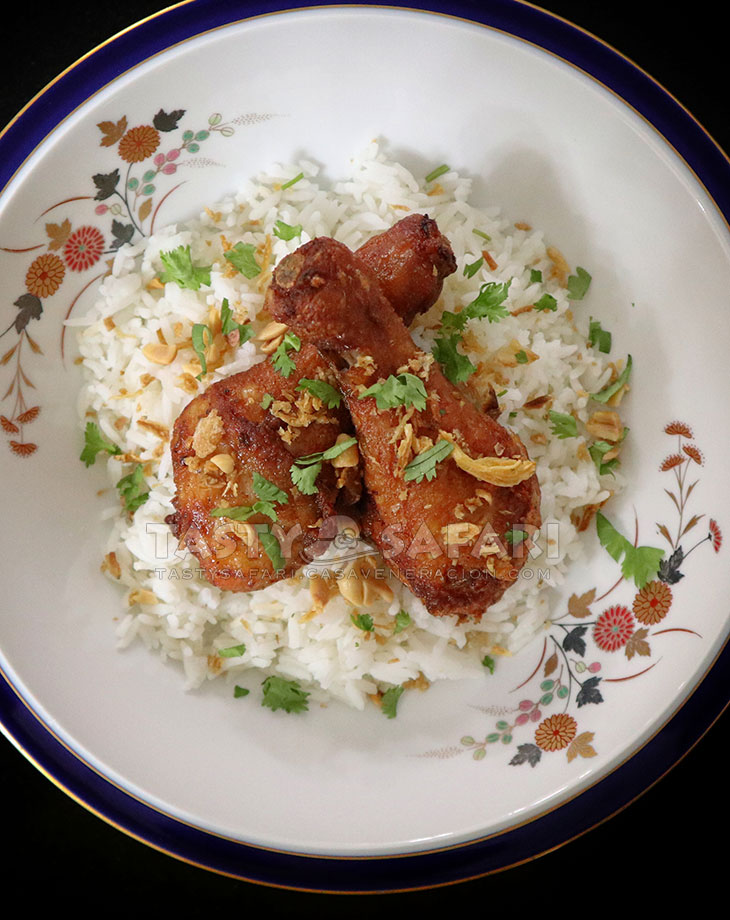 Thai fried chicken with rice