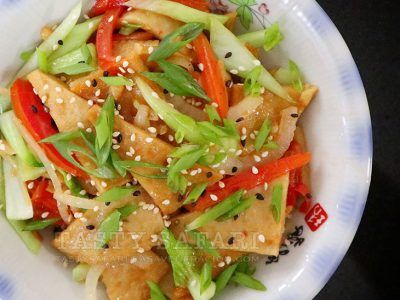 Stir fried Korean fish cakes