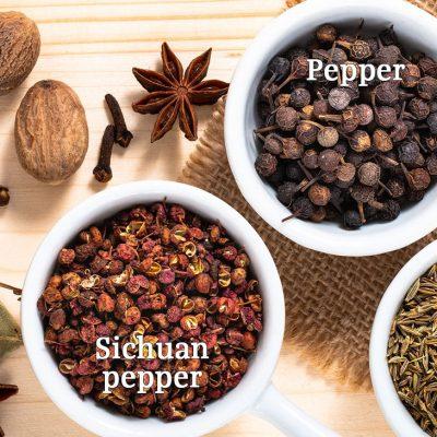 Peppercorn and Sichuan Pepper, Differentiated