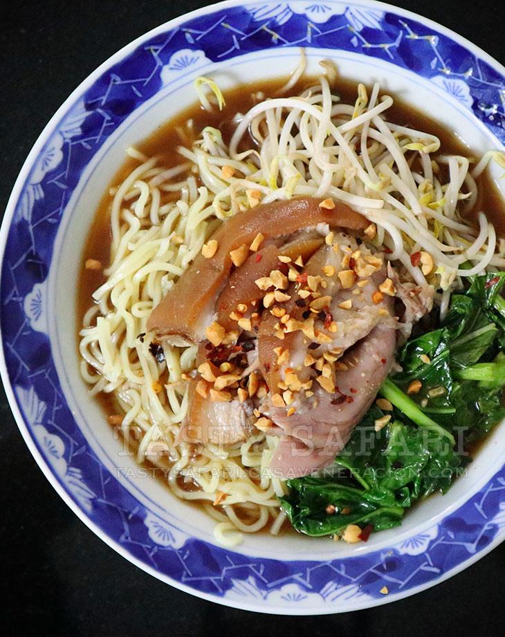 Thai Pork Leg Stew (Khao Kha Moo) Over Noodles