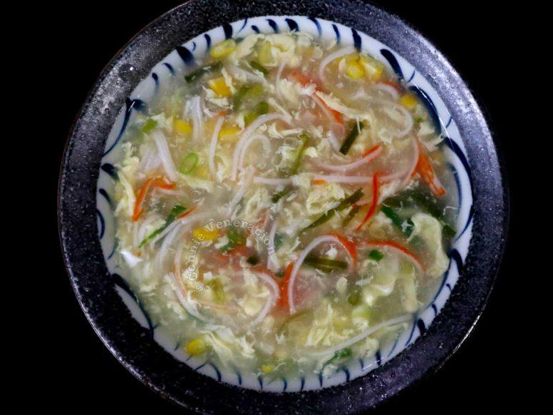 Crab and corn egg drop soup