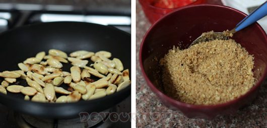 Toasting nuts in an oil-free pan
