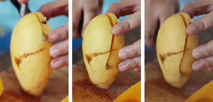 How to cut a ripe mango